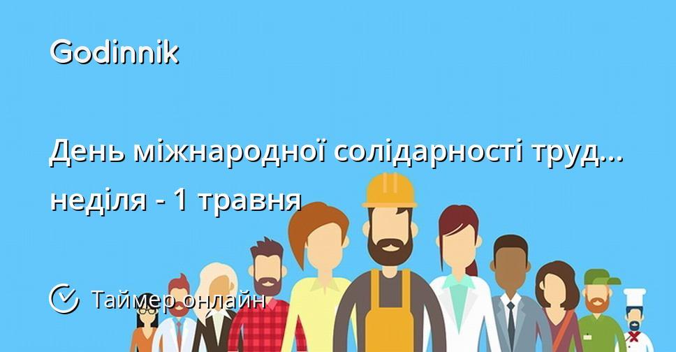 День міжнародної солідарності трудящих